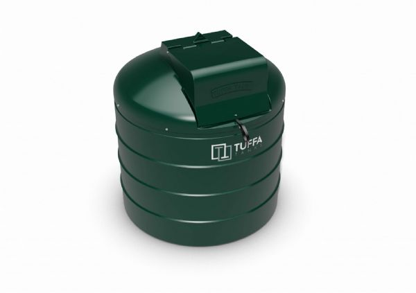 1400 Litre Circular Heating Oil Tank - Plastic Bunded